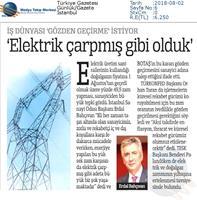 TÜRKONFED-Enerji Zammı Basın Açıklaması Medya Yansımaları-2 Ağustos 2018