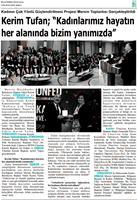 TÜRKONFED İDK - GİŞKAD Kadının Çok Yönlü Güçlendirilmesi Projesi Mersin Toplantısı Medya Yansımaları / 26 Ocak 2018