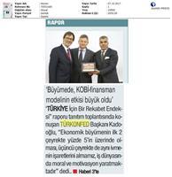 TÜRKONFED-MARSİFED Türkiye İçin Bir Rekabet Endeksi Raporu Bursa Toplantısı-Medya Yansımaları / 3 Ekim 2017