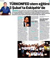 TÜRKONFED STEM Anadolu Eskişehir Eğitimi Medya Yansımaları - 1 Şubat 2018 / Eskişehir