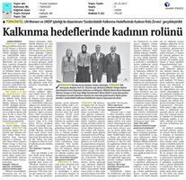 TÜRKONFED-UNDP-UN Women SKH Kadının Rolü Zirvesi Medya Yansımaları / 19 Ekim 2017