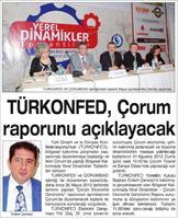 TÜRKONFED'in Çorum Raporu
